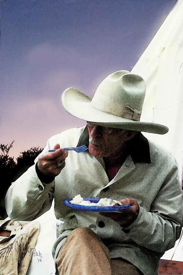 Ranch Painting - Blue Plate Special by Toyah Taylor