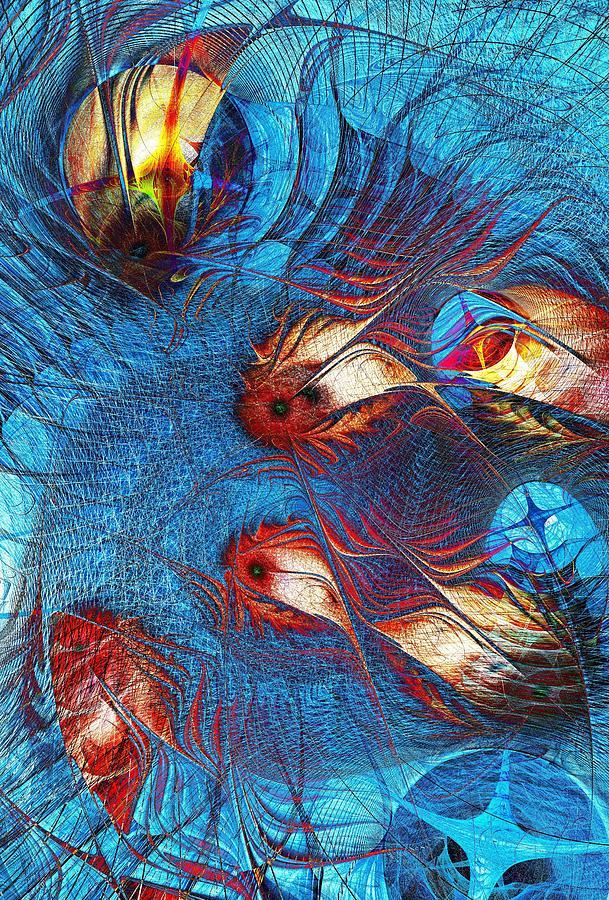 Interior Digital Art - Blue Pond by Anastasiya Malakhova