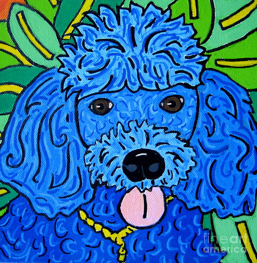 Poodle Painting - Blue Poodle by Susan Sorrell