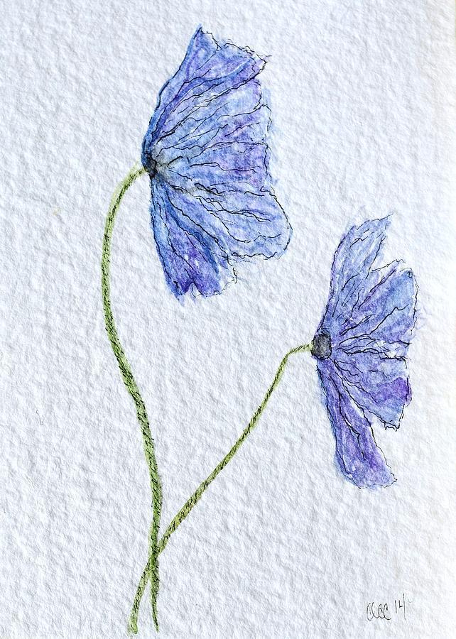 Blue Poppies by Anne Clark
