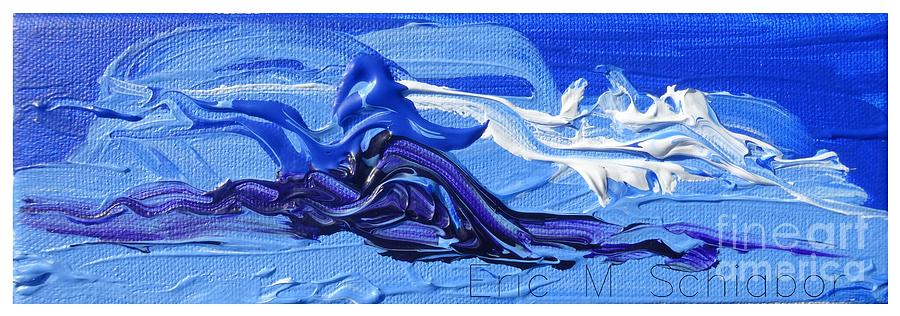 Blue Painting - Blue Purple  Abstract by Eric  Schiabor
