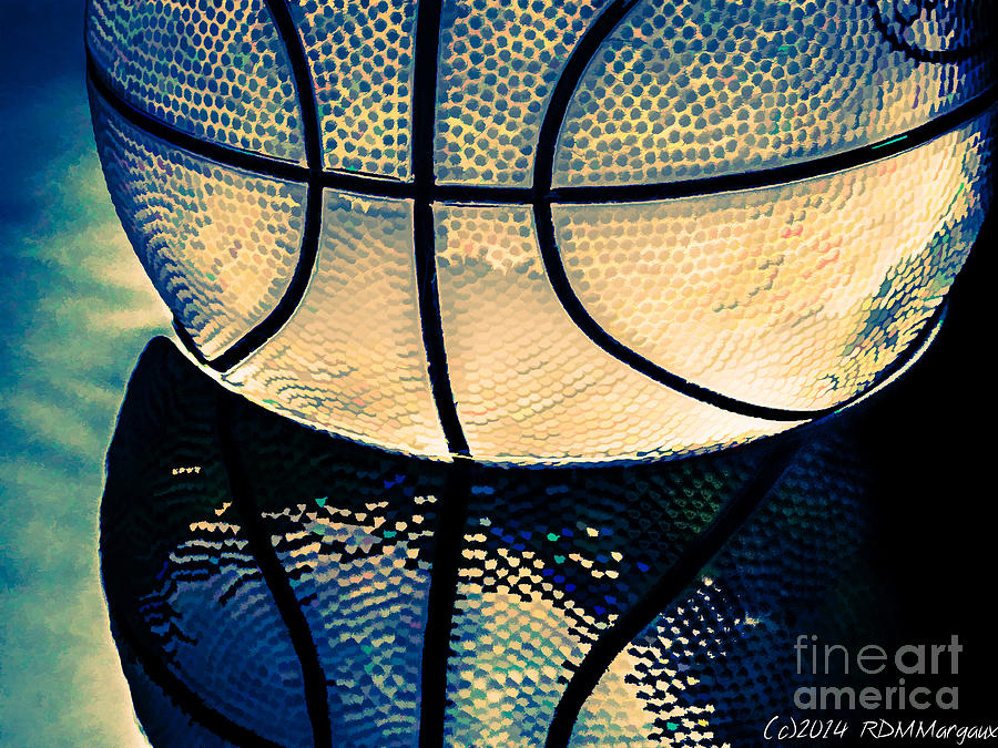 Basketball Photograph - Blue Basketball by Margaux Dreamaginations