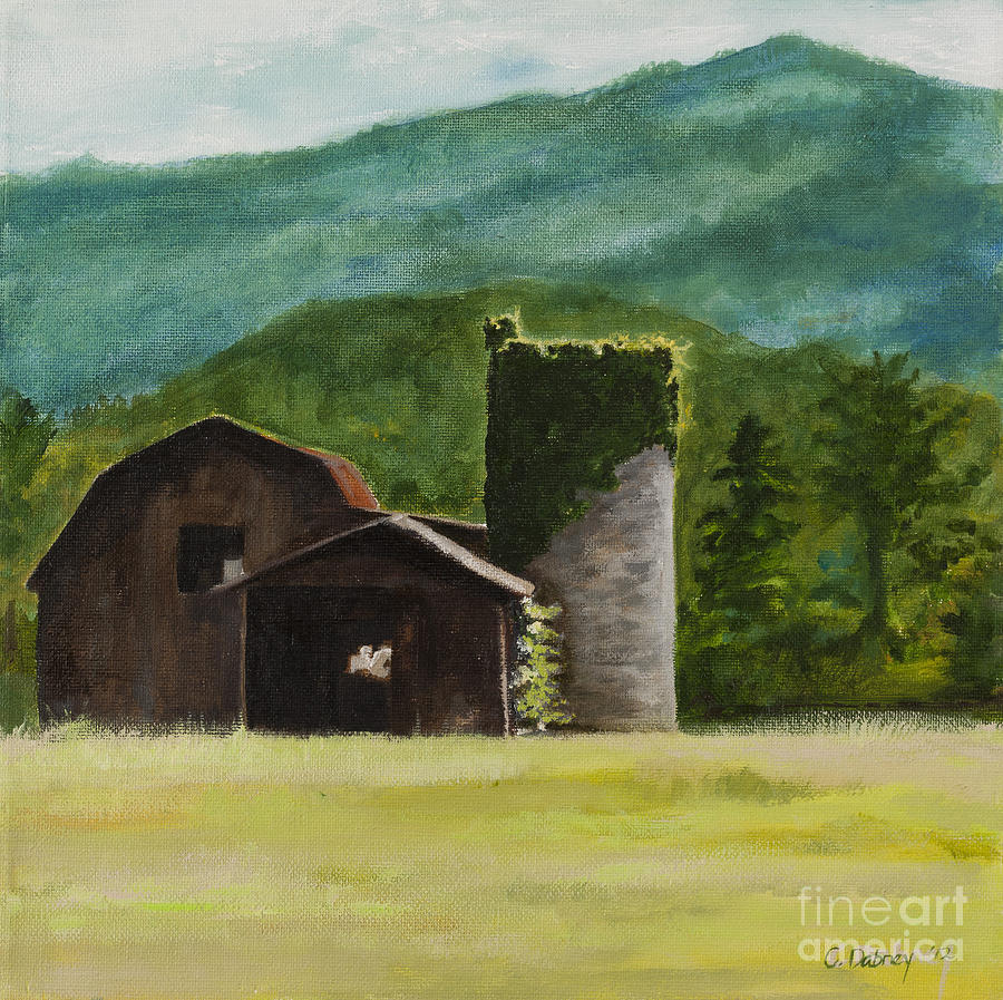 Blue Ridge Painting - Blue Ridge Barn by Carla Dabney