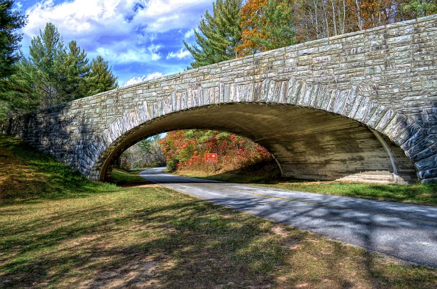 Blue Ridge Parkway Digital Art - Blue Ridge Bridge by Bob Jackson