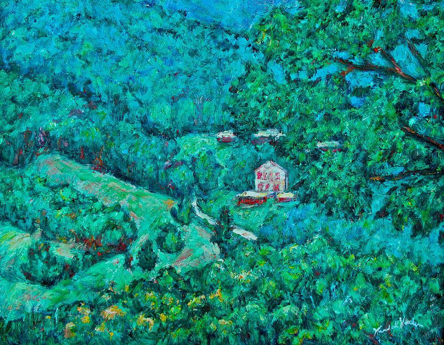 Mountains Painting - Blue Ridge Magic by Kendall Kessler