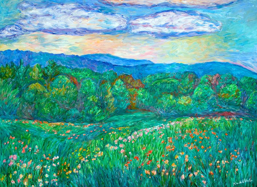 Landscapes Painting - Blue Ridge Meadow by Kendall Kessler