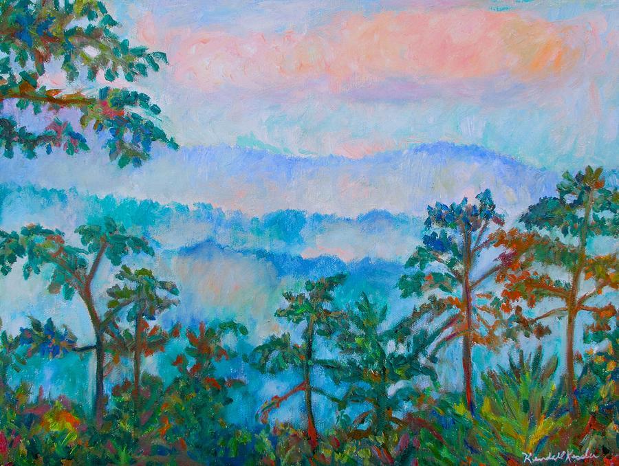 Clouds Painting - Blue Ridge Mist by Kendall Kessler