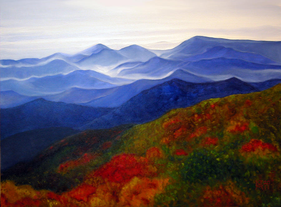 Blue Ridge Mountains Watercolor Painting