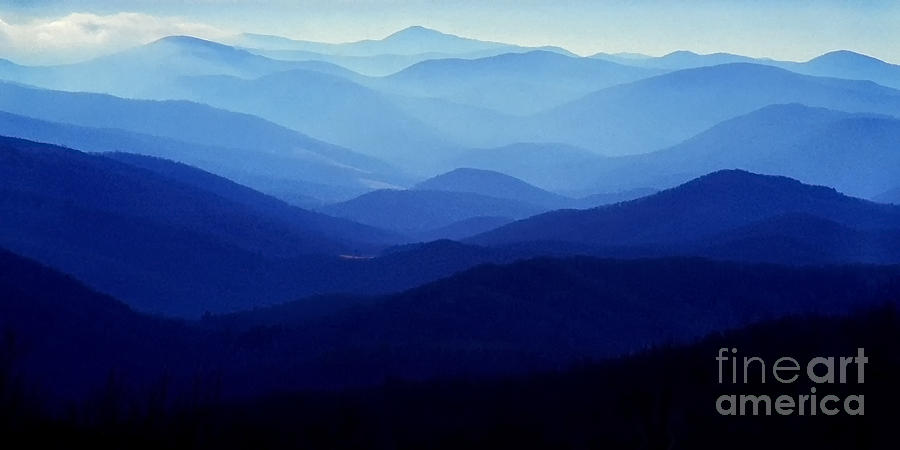 Virginia Photograph - Blue Ridge Mountains by Thomas R Fletcher