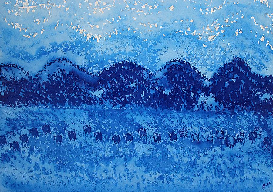 Mountains Painting - Blue Ridge Original Painting by Sol Luckman