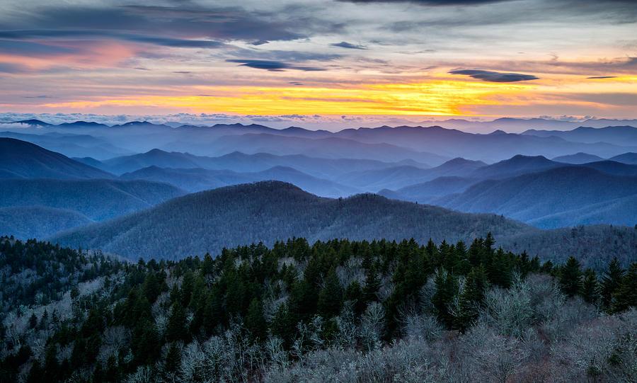 Blue Ridge Parkway Landscape Photography Hazy Shades Of
