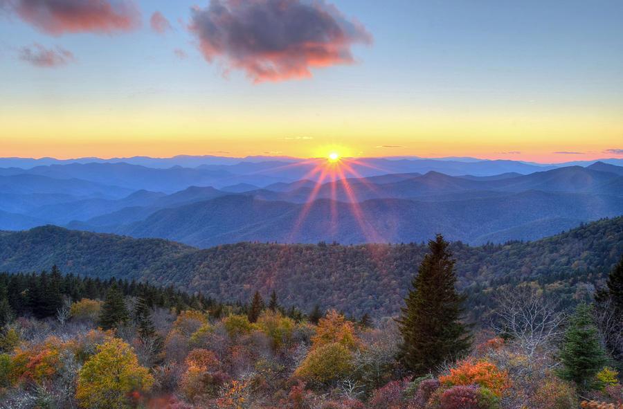 Blue Ridge Parkway Photograph - Blue Ridge Parkway Nightfall Serenity by Mary Anne Baker