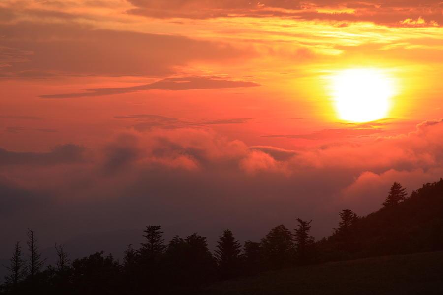 Blue Ridge Sunrise Great Balsam Mountains Photograph