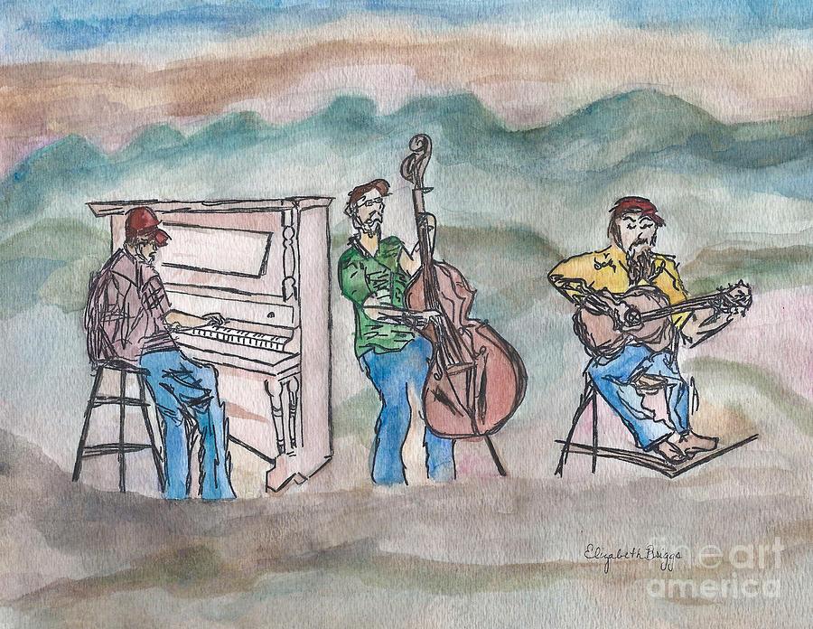 Blue Painting - Blue Ridge Tradition   by Elizabeth Briggs