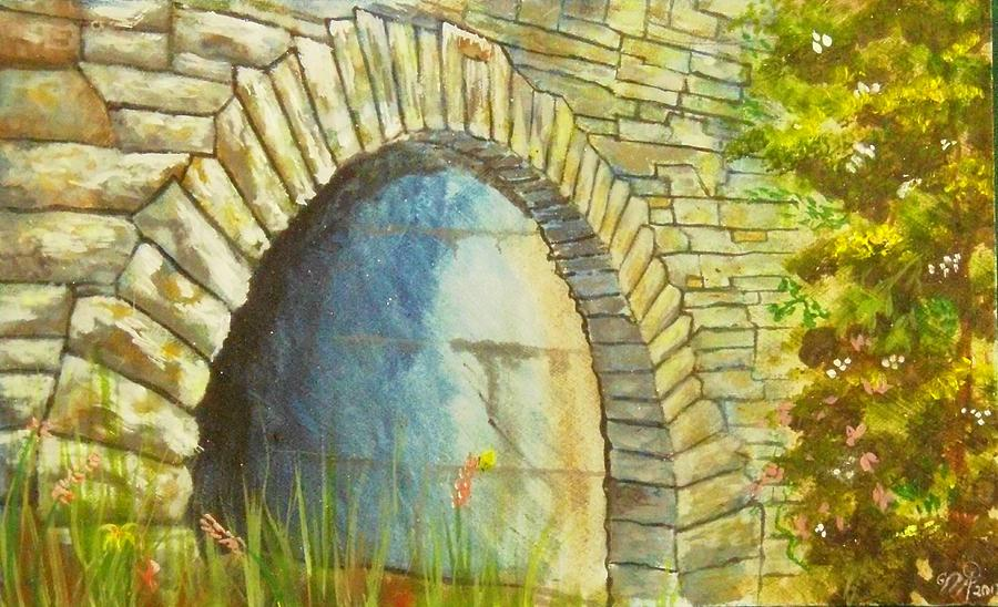 Blue Ridge Parkway Painting - Blue Ridge Tunnel by Nicole Angell