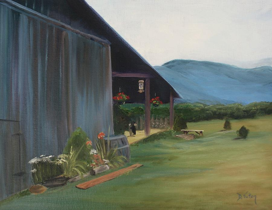 Blue Ridge Painting - Blue Ridge Vineyard by Donna Tuten