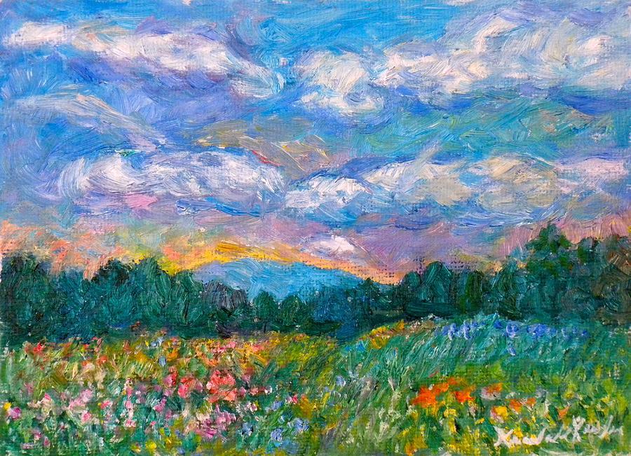 Landscape Painting - Blue Ridge Wildflowers by Kendall Kessler