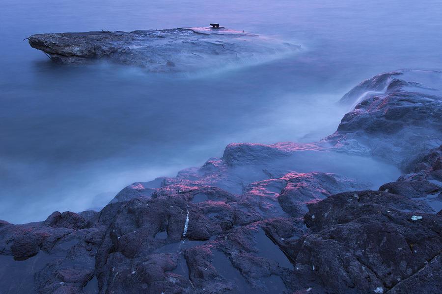 Lake Superior Photograph - Blue rise by Linda Ryma