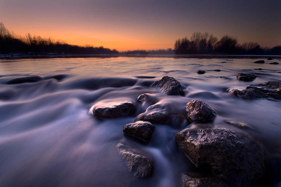Landscapes Photograph - Blue River by Davorin Mance