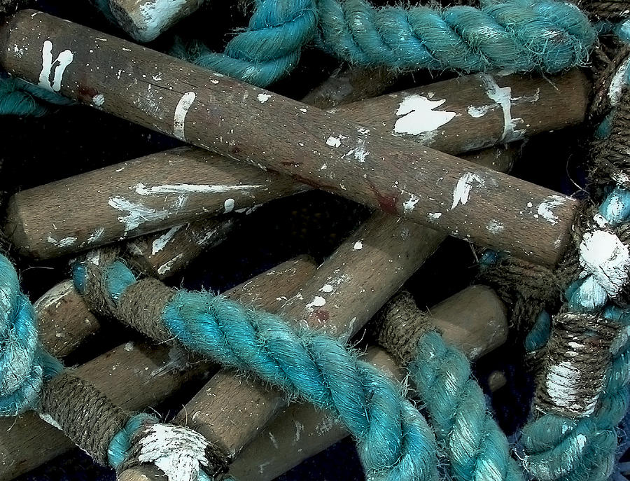 Blue Photograph - Blue Rope  by Bill Marder
