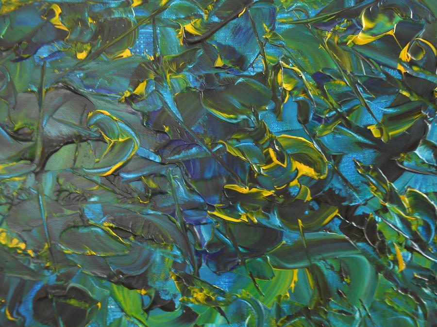 Abstract Painting Painting - Blue Sea by Lisa Williams