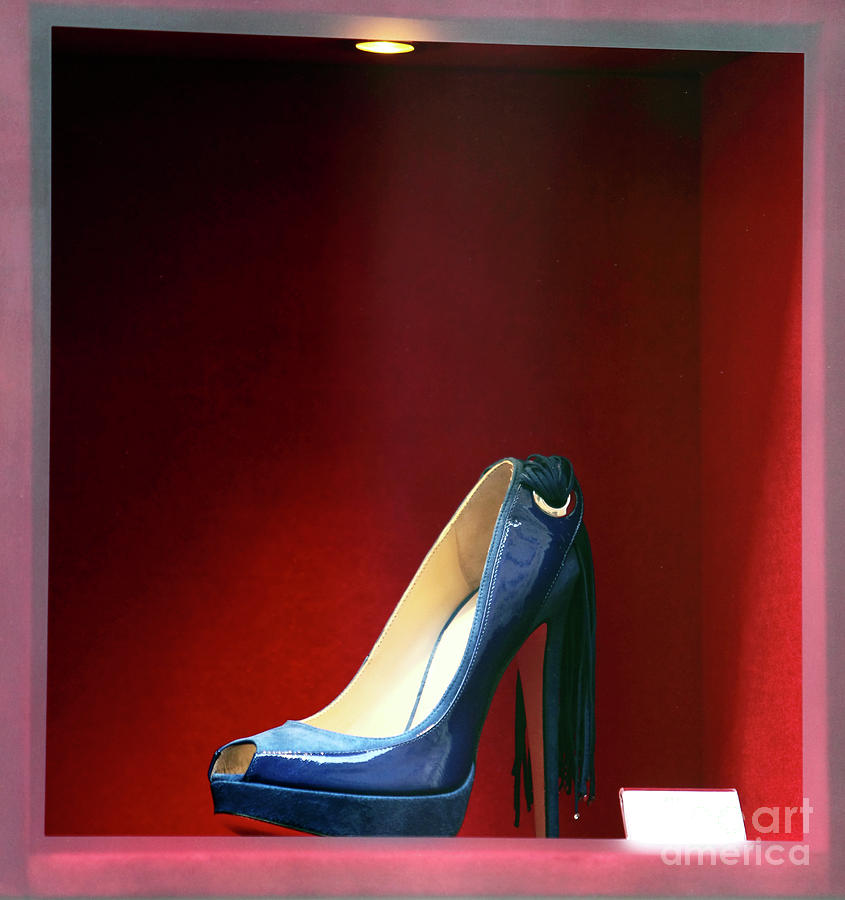Pictures Photograph - Blue Shoe by John Rizzuto