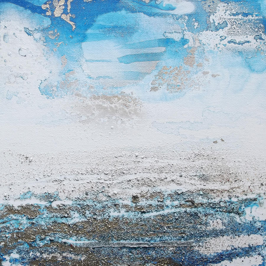 Shore Mixed Media - Blue Shore Rhythms And Texturesii by Mike   Bell
