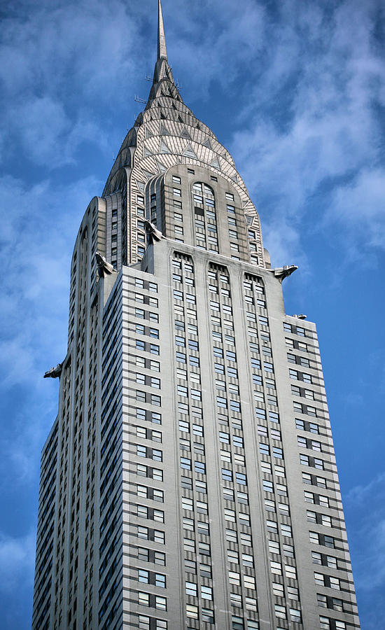 Chrysler Building Photograph - Blue Skies by JC Findley