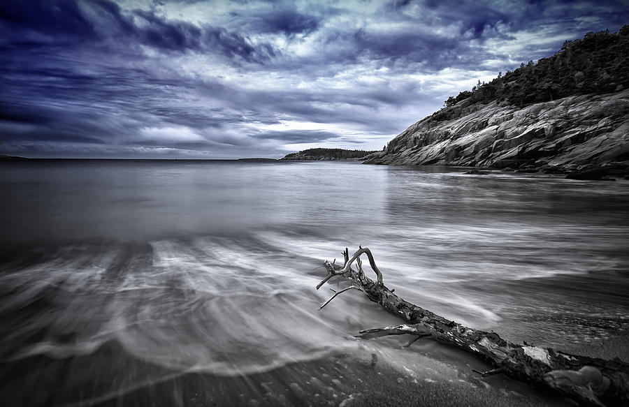 Wood Photographs Photograph - Blue Sky ... High Tide by Chad Tracy