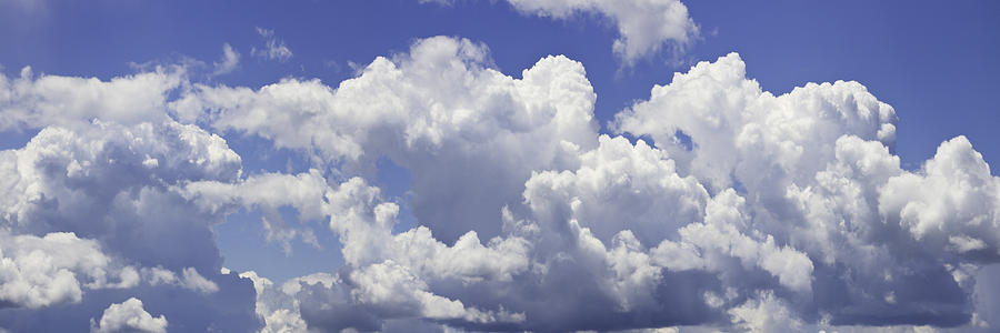 Blue Sky And Building Storm Clouds Panorama Fine Art Print ...