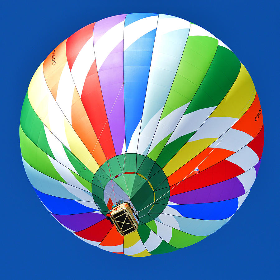 Blue Photograph - Blue Sky Balloon by Stephen Richards