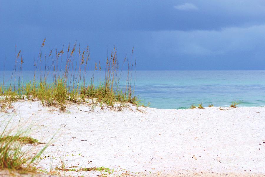 Blue Sky Beach Scene Photograph By Michelle Powell