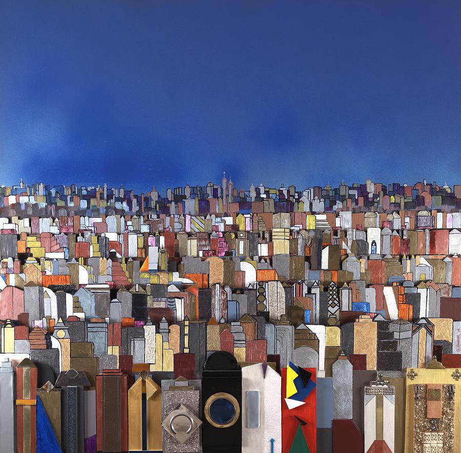 Robert Handler Painting - Blue Sky Big City by Robert Handler