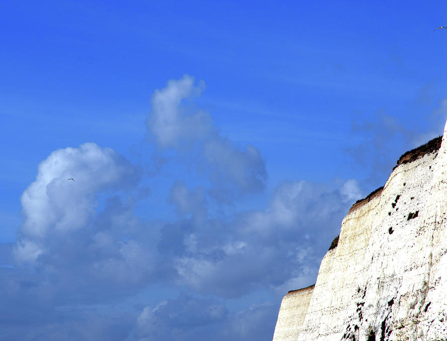 Blue Sky With Chalk Cliff Photograph by Lyn Holly Coorg