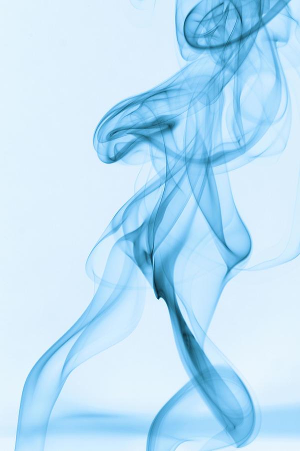 Blue Smoke Photograph - Blue Smoke by Andy Van der motte