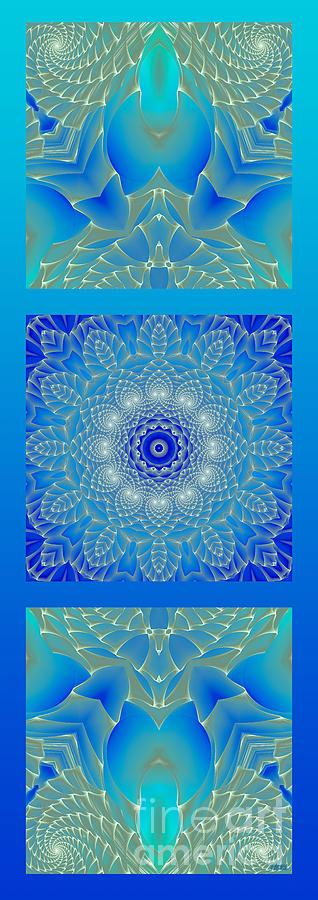 Blue Digital Art - Blue Space Flower by Hanza Turgul