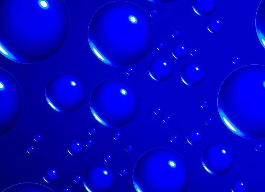 Math Digital Art - Blue Sphere-abstract by Tom Druin