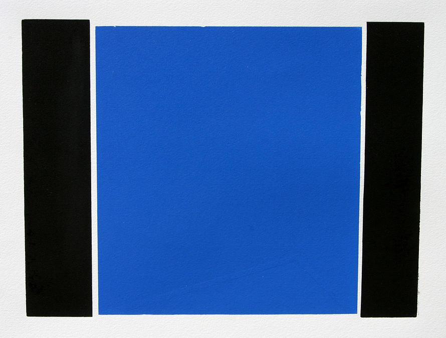 Original Relief - Blue Square by Scott Shaver