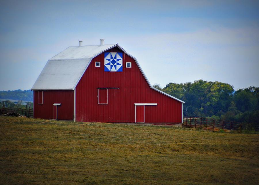 Blue Star Quilt Barn Photograph by Cricket Hackmann : quilt on barns - Adamdwight.com