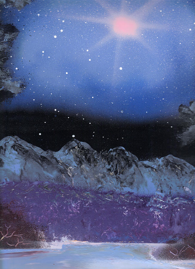 Landscape Painting - Blue Stars Night by Marc Chambers