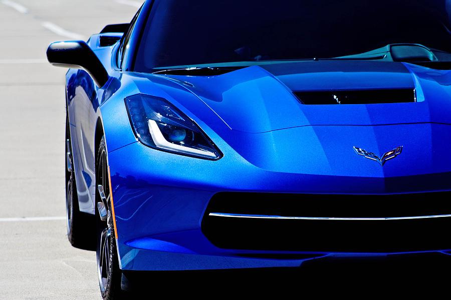 Corvette Photograph - Blue Stingray by Mamie Thornbrue