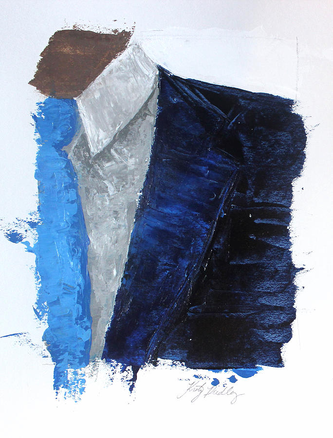 Blue Suit With Light Blue Tie Kristye Addison Dudley on Painted Metal Wall Art