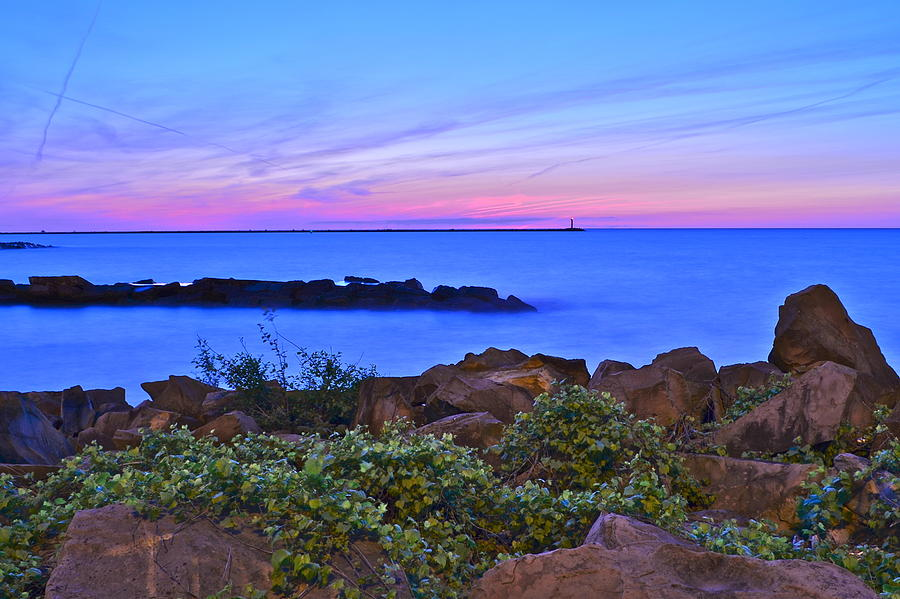 Sunset Photograph - Blue Sunset by Frozen in Time Fine Art Photography