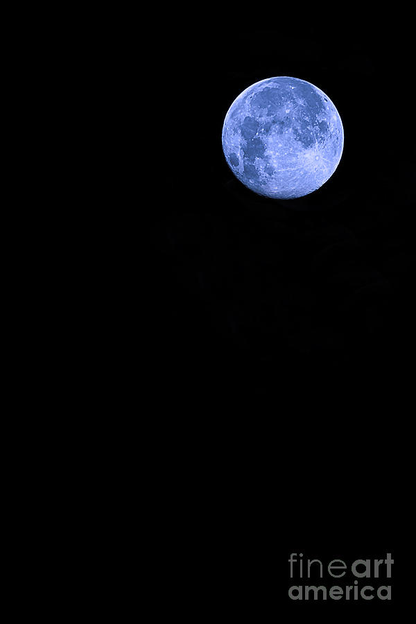 Supermoon Photograph - Blue Supermoon by Trish Mistric