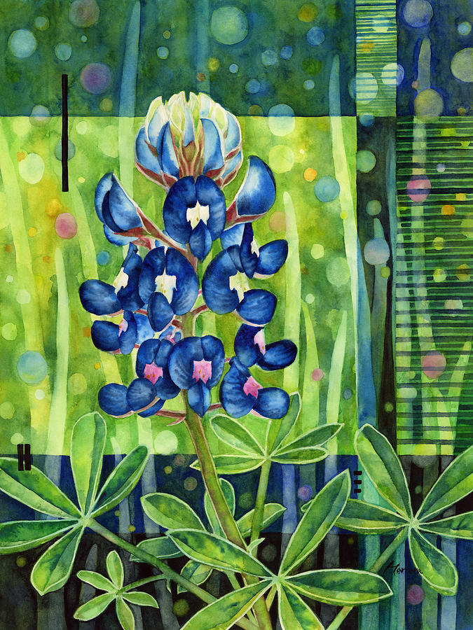 Blue Painting - Blue Tapestry by Hailey E Herrera