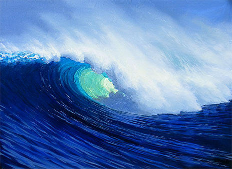 Surf Painting - Blue Thunder by Trey Surtees