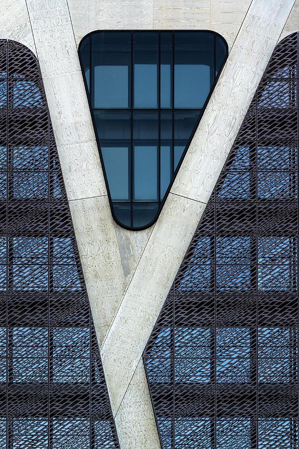 Belgium Photograph - Blue Triangle by Jef Van Den