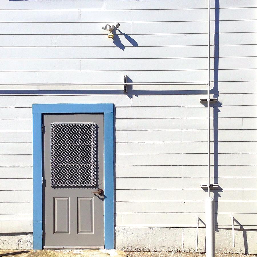 Door Photograph - Blue Trim by Julie Gebhardt