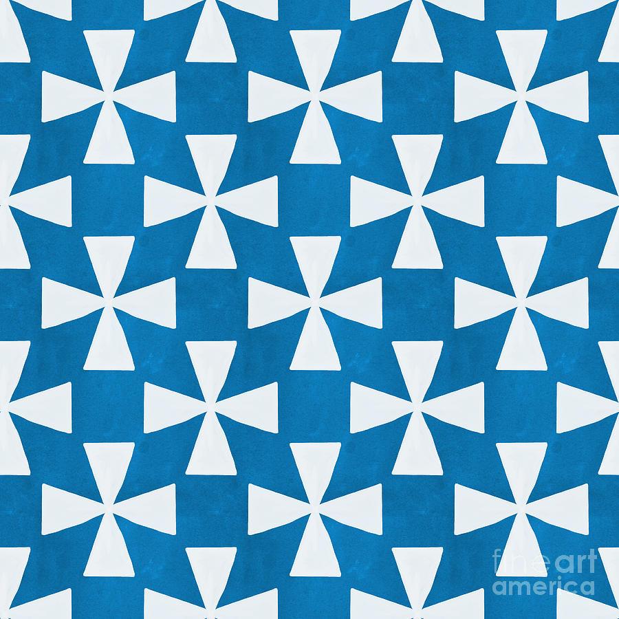 Blue Twirl Painting