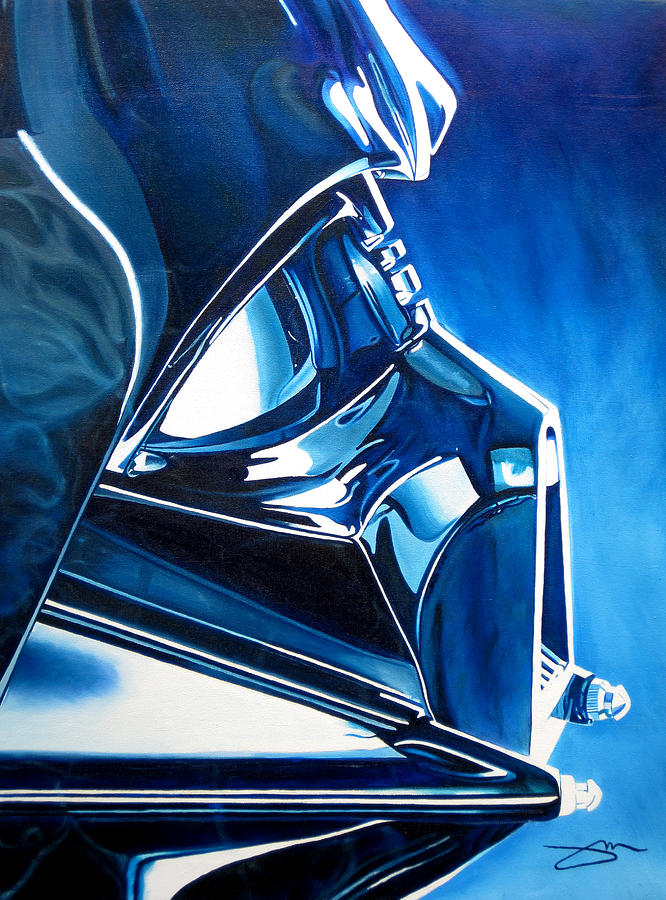 Star Wars Painting - Blue Vader by Joshua Morton
